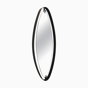 Oval Mirror in Iron by Sant'Ambrogio y de Berti, Italy, 1950s