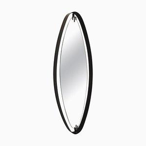 Ovaler Spiegel aus Eisen von Sant'Ambrogio y de Berti, Italien, 1950er