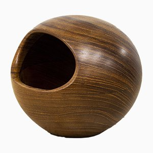 Small Teak Bowl by Sigvard Nilsson for Söwe konst, 1950s
