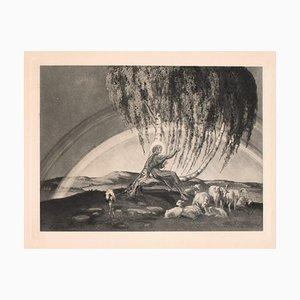 Franz von Bayros, Der Gute Hirte, Frühes 20. Jahrhundert, Vintage Héliogravure