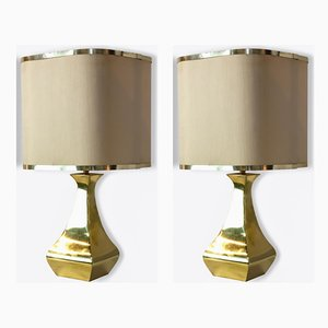 Pair of Brass Table Lamps by Tonello and Grillo, 1970s, Set of 2