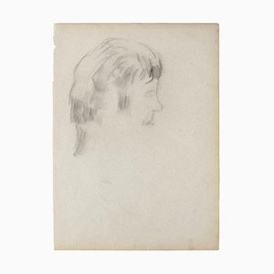 The Profile, Original Pencil on Ivory Paper, 1950
