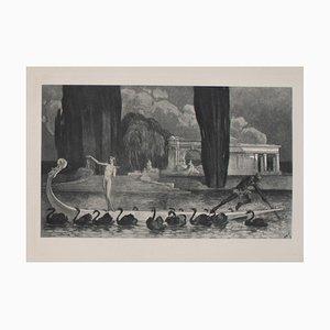 Franz von Bayros (Choisi Le Conin), Harmony, años 20, Héliogravure