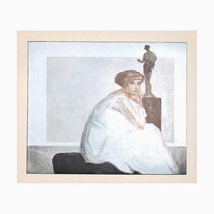 Franz von Bayros (Choisi Le Conin), Die Marquise Of Bayros, Vintage Héliogravure