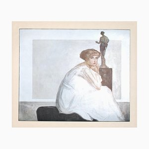 Franz von Bayros (Choisi Le Conin), The Marquise Of Bayros, Heliogravure vintage