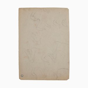 Sketch, Pencil on Brownish Paper, 20th Century