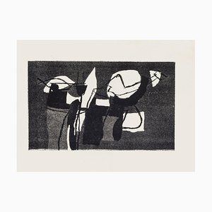 Afro Basaldella, Surreal Composition, 1970s, Original Etching