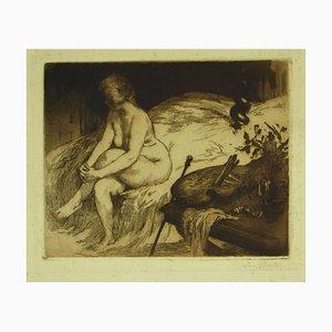 Armand Berton, Nude, 19th Century, Original Etching