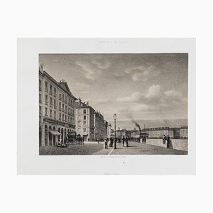 Antonio Fontanesi, Grand Quai, 19th Century, Original Lithograph