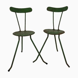Hungarian Handmade Metal Chairs, 1950s, Set of 2