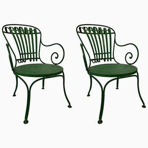 Französische Gartenstühle von Francois A. Carre, 1930er, 2er Set