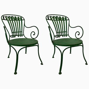French Garden Chairs by Francois A. Carre, 1930s, Set of 2