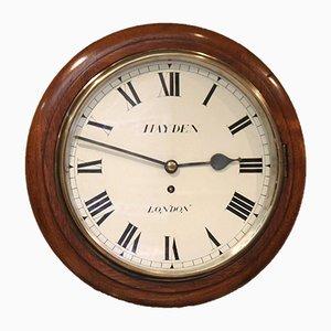 Antique Light Mahogany Fusee Dial Clock