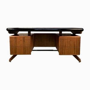 Scandinavian Solid Teak Writing Desk, 1960s