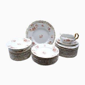 Antique Porcelain Tableware Set from Limoges, Set of 32