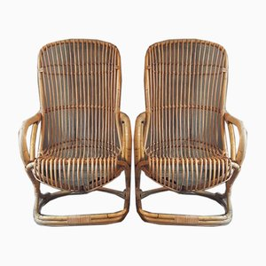 Reed Lounge Chairs, 1962, Set of 2