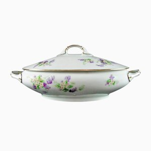 Antique Oval Tureen with Flowers from Thomas