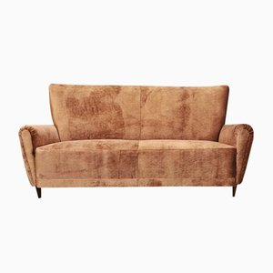 Italian Velvet Sofa by Parisi, 1950s