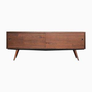 Modern Scandinavian Walnut Sideboard, 1960s