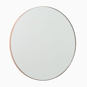 Orbis™ Round Minimalist Mirror with a Regular Copper Frame by Alguacil & Perkoff Ltd