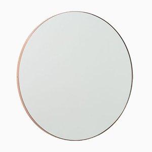 Orbis™ Round Minimalist Mirror with a Regular Copper Frame by Alguacil & Perkoff Ltd