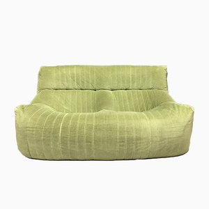 Vintage French Green 2-Seater Aralia Sofa by Michel Ducaroy for Ligne Roset, 1982