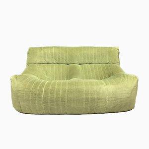 Vintage French Green 2-Seater Aralia Sofa by Michel Ducaroy for Ligne Roset, 1982