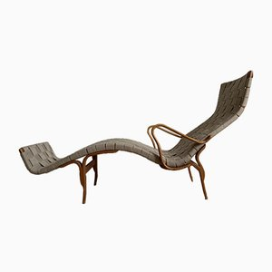 Mid-Century Pernilla 3 Chaise Lounge by Bruno Mathsson for Karl Mathsson