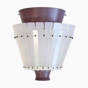 Perforierte Metall und Lucite Deckenlampe, 1970er