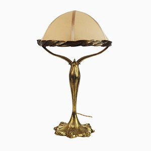 Antique Art Nouveau Bronze Table Lamp