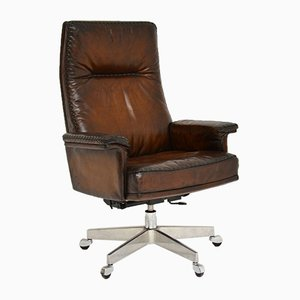 Vintage Leather Swivel Desk Chair from de Sede, 1960s