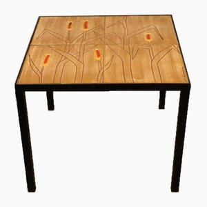 Table d'Appoint en Céramique par Jacques Lignier, 1970s