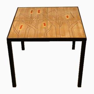 Tavolino in ceramica di Jacques Lignier, anni '70