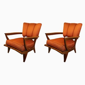 Sk250 Lounge Chairs by Etienne Henri Martin for Steiner, 1950s, Set of 2
