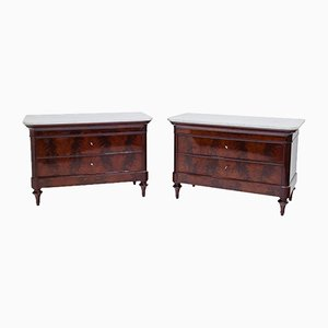 Antique Louis Philippe Commodes, Set of 2