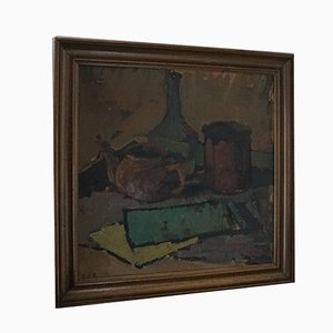 Mid-Century Danish Oil Painting