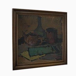 Mid-Century Danish Oil Painting