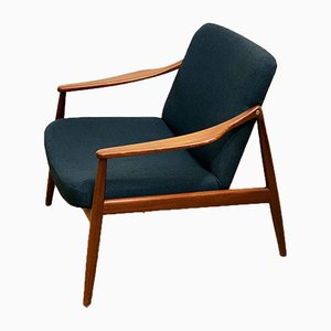 Mid-Century Teak Lounge Chair by Hartmut Lohmeyer for Wilkhahn, 1950s