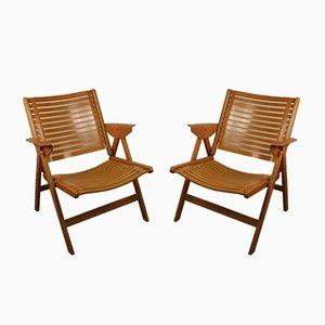 Folding Chairs by Niko Kralj for Stol Kamnik, 1950s, Set of 2