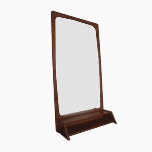 Teak Mirror with Shelf