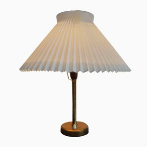 Brass Table Lamp with Le Klint Shade