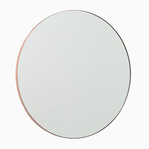 Orbis™ Small Round Minimalist Mirror with Copper Frame by Alguacil & Perkoff Ltd