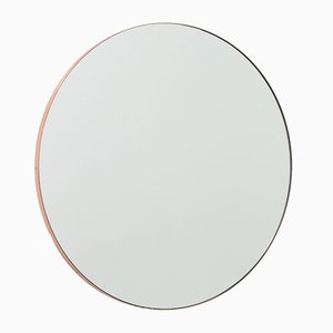 Orbis™ Round Medium Modern Mirror with Copper Frame by Alguacil & Perkoff Ltd