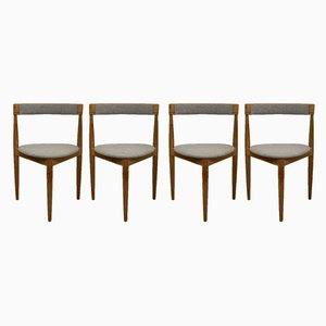 Dreibein Esszimmerstühle von Hans Olsen für Frem Røjle, 1950er, 4er Set