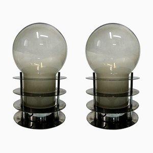 Stahl Tischlampen von Tronconi, 1970er, 2er Set