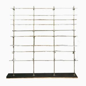 Iron & Chrome Wall Rack, 1950s