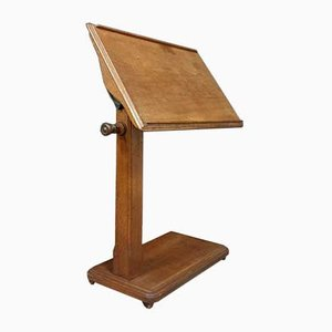 Antique Bedside Reading Easel In Solid Oak from Maison Gervais