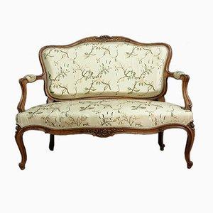 Sofá cama Luis XV de nogal