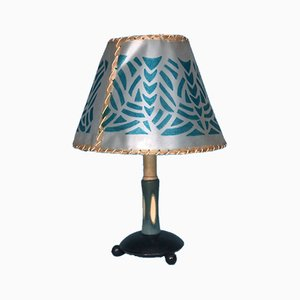 Mid-Century Celluloid Table Lamp