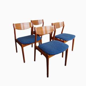 Sedie da pranzo vintage in teak di P.E. Jorgensen per Farsø Møbelfabrik, set di 4